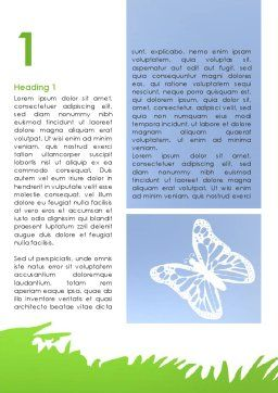 Summer Butterfly Word Template, First Inner Page, 08577, Holiday/Special Occasion — PoweredTemplate.com