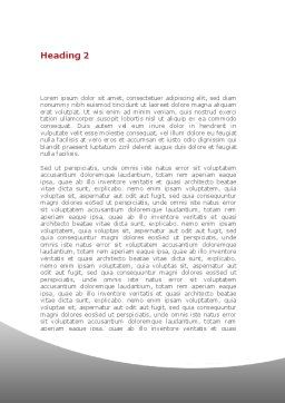 Primary Form Word Template Second Inner Page