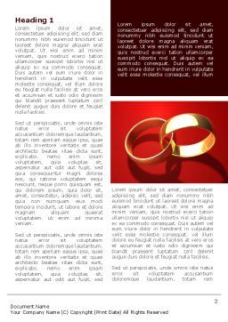 Wedding Rings On A Bright Red Background Word Template, First Inner Page, 08582, Holiday/Special Occasion — PoweredTemplate.com