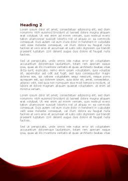 Wedding Rings On A Bright Red Background Word Template, Second Inner Page, 08582, Holiday/Special Occasion — PoweredTemplate.com