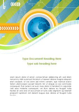 Business Around-The-World Word Template, Cover Page, 08584, Global — PoweredTemplate.com