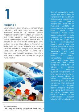 Thin Laboratory Tests Word Template, First Inner Page, 08586, Technology, Science & Computers — PoweredTemplate.com