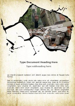 Building Destruction Word Template, Cover Page, 08587, Nature & Environment — PoweredTemplate.com