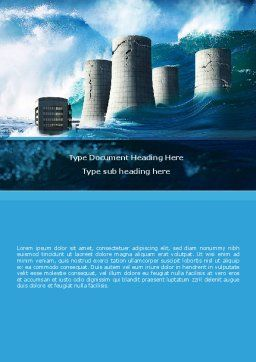Natural Disaster Word Template, Cover Page, 08590, Nature & Environment — PoweredTemplate.com