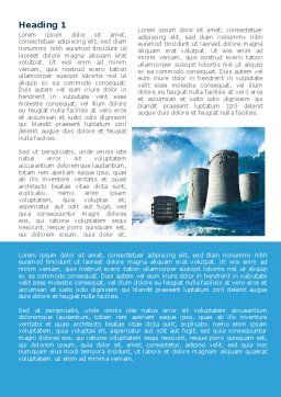 Natural Disaster Word Template, First Inner Page, 08590, Nature & Environment — PoweredTemplate.com