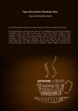 Coffee Break With Various Coffee Word Template Cover Page