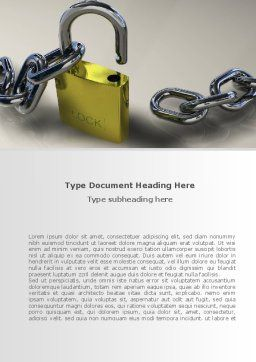 Security Guarantee Word Template, Cover Page, 08594, Consulting — PoweredTemplate.com