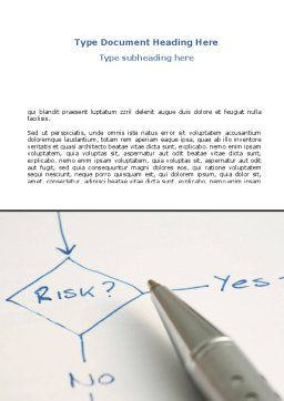 Risk Outputs Word Template, Cover Page, 08595, Consulting — PoweredTemplate.com