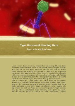 Infection Word Template, Cover Page, 08597, Medical — PoweredTemplate.com