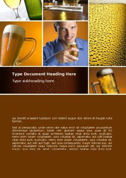 Beer Collage Word Template, Cover Page, 08604, Careers/Industry — PoweredTemplate.com