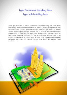 City Structure Word Template, Cover Page, 08609, Construction — PoweredTemplate.com