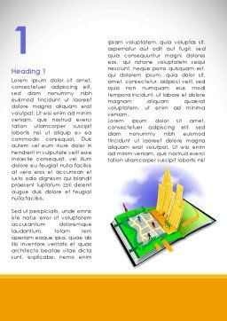 City Structure Word Template, First Inner Page, 08609, Construction — PoweredTemplate.com