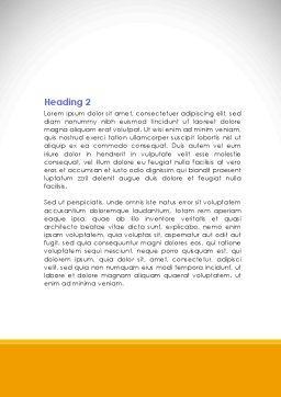 City Structure Word Template, Second Inner Page, 08609, Construction — PoweredTemplate.com