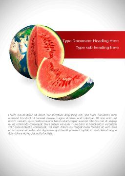 Sweet Watermelon Word Template Cover Page