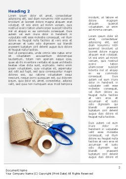 Bandage And Scissors Word Template, First Inner Page, 08613, Medical — PoweredTemplate.com