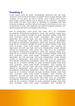 Bandage And Scissors Word Template, Second Inner Page, 08613, Medical — PoweredTemplate.com