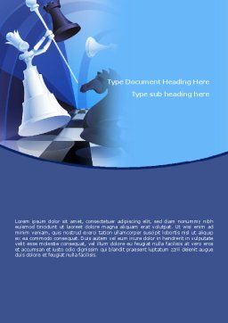 Strategic Defeat Word Template, Cover Page, 08614, Consulting — PoweredTemplate.com