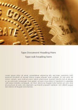Embossed Seal Word Template, Cover Page, 08615, Legal — PoweredTemplate.com