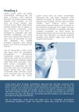 Medical Mask Word Template, First Inner Page, 08619, Medical — PoweredTemplate.com