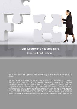 New Decision Word Template, Cover Page, 08621, Consulting — PoweredTemplate.com