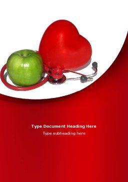 Healthy Food Word Template, Cover Page, 08625, Medical — PoweredTemplate.com