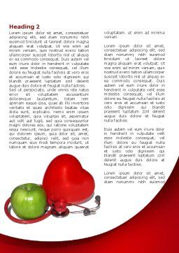 Healthy Food Word Template, First Inner Page, 08625, Medical — PoweredTemplate.com