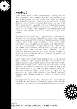 Black And White Gears Word Template, Second Inner Page, 08632, Consulting — PoweredTemplate.com