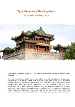 China Town Word Template, Cover Page, 08634, Flags/International — PoweredTemplate.com