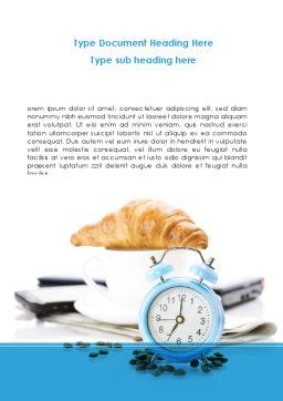 Alarm Clock Word Template, Cover Page, 08637, Consulting — PoweredTemplate.com