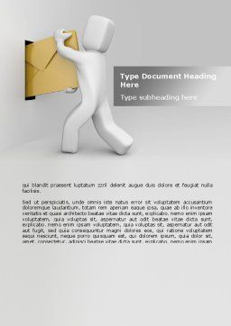 Post A Letter Word Template, Cover Page, 08640, Careers/Industry — PoweredTemplate.com