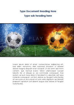 Football League Word Template, Cover Page, 08644, Sports — PoweredTemplate.com