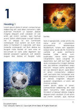 Football League Word Template, First Inner Page, 08644, Sports — PoweredTemplate.com