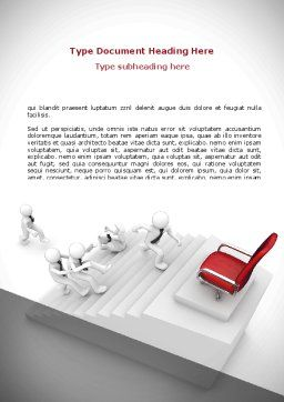 Promotion Word Template, Cover Page, 08645, Careers/Industry — PoweredTemplate.com