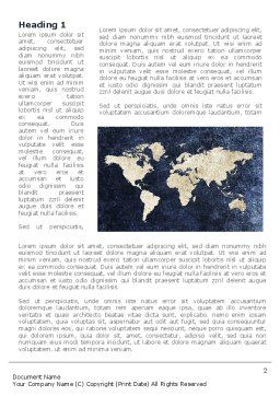 Continents Word Template, First Inner Page, 08647, Business — PoweredTemplate.com