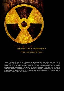 Radioactivity Word Template, Cover Page, 08649, Military — PoweredTemplate.com