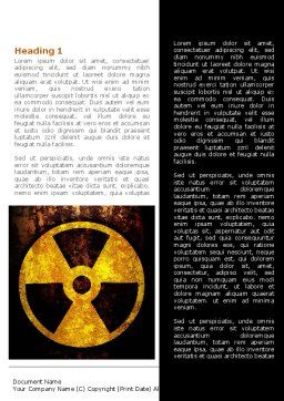 Radioactivity Word Template, First Inner Page, 08649, Military — PoweredTemplate.com