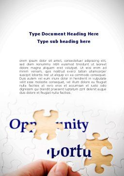 Opportunity Word Template, Cover Page, 08651, Consulting — PoweredTemplate.com