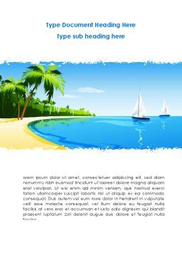 Memorable Vacation Word Template Cover Page