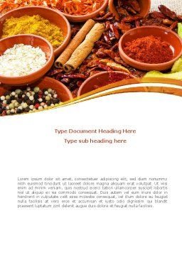 Fragrant Spices Word Template, Cover Page, 08660, Food & Beverage — PoweredTemplate.com
