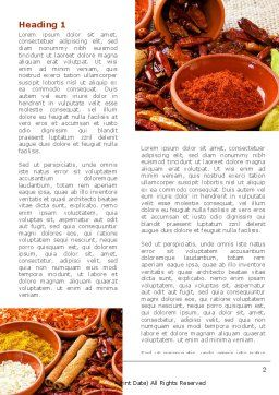 Fragrant Spices Word Template, First Inner Page, 08660, Food & Beverage — PoweredTemplate.com