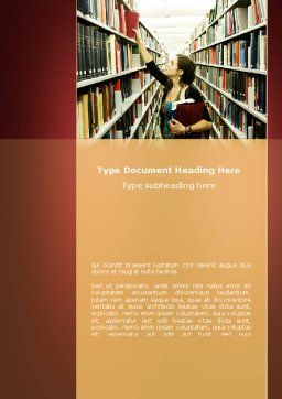 Bookshelves of Library Word Template Cover Page
