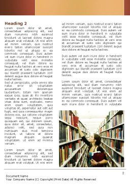 Bookshelves of Library Word Template First Inner Page