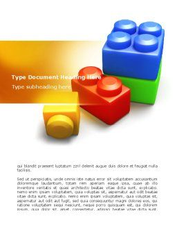 Lego Bricks Word Template, Cover Page, 08665, Construction — PoweredTemplate.com