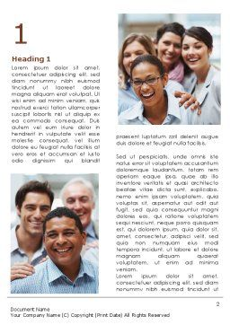 Smiling Team Word Template, First Inner Page, 08668, People — PoweredTemplate.com