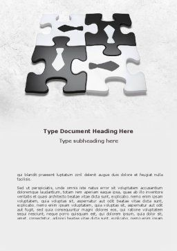 Joint Efforts Word Template, Cover Page, 08674, Business — PoweredTemplate.com