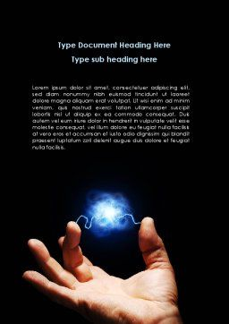Corona Discharge Word Template, Cover Page, 08679, Consulting — PoweredTemplate.com