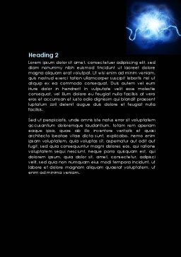 Corona Discharge Word Template, Second Inner Page, 08679, Consulting — PoweredTemplate.com