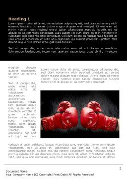 Red Boxing Gloves Word Template, First Inner Page, 08680, Business Concepts — PoweredTemplate.com