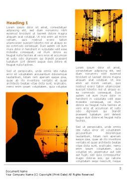 City Silhouette On The Sunset Word Template, First Inner Page, 08682, Construction — PoweredTemplate.com