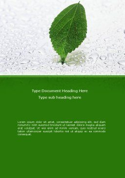 Hydroponics Word Template, Cover Page, 08683, Nature & Environment — PoweredTemplate.com